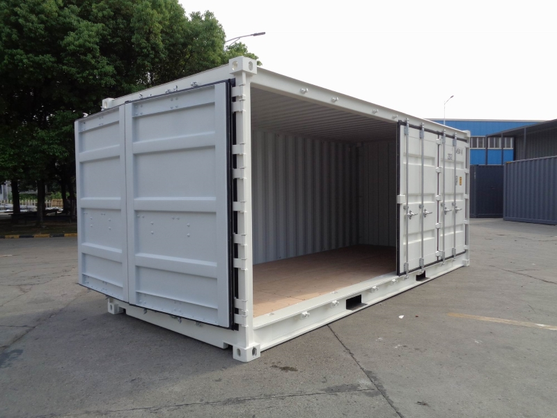 20 side door seitent r seecontainer lagercontainer open. Black Bedroom Furniture Sets. Home Design Ideas