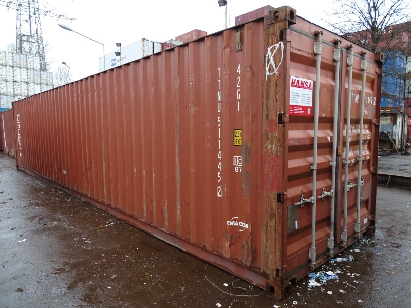 40 fuss lagercontainer seecontainer berseecontainer materialcontainer gebraucht ebay. Black Bedroom Furniture Sets. Home Design Ideas