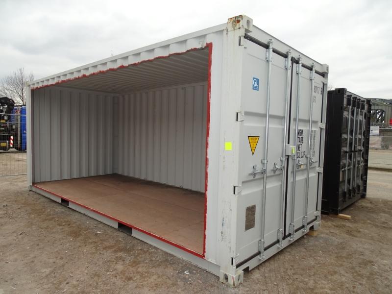 seitenwand ausbauen seitenwand des containers entfernen containerumbau ebay. Black Bedroom Furniture Sets. Home Design Ideas